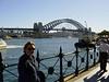 Ausflug nach Sydney (40min Busfahrt für $3,70 = ?3,10 entfernt): Blick auf die (zu unrecht?) berühmte Harbour-Bridge