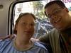 Wir im Mini-Bus mit Bike-Trailer