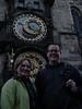 Die 2 (zukünftigen Ex?)Astrologen vor der astrologischen Uhr
