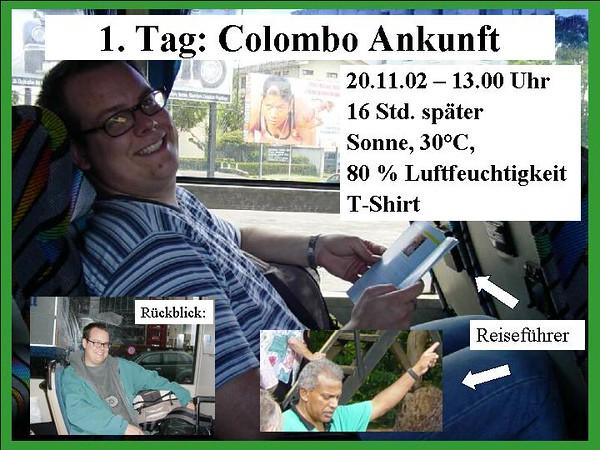 1. Tag: Colombo Ankunft