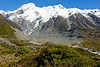 A view from the Hooker Valley Track in Mt. Cook National Park.