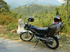 the bike that got us the last 200 km to the border