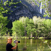 Photographing Yosemite Falls in the Springtime.
