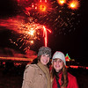 self timer with holiday fireworks in Manhattan Beach.