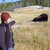 Probably a little too close to the bison. Yellowstone National Park 2005.