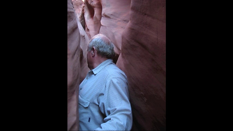 "A short video to share.  Dad and I  hiking through ""Spooky Slot Canyon"" in the back country of the Escalante National Monument, Utah.  October, 1, 2008."