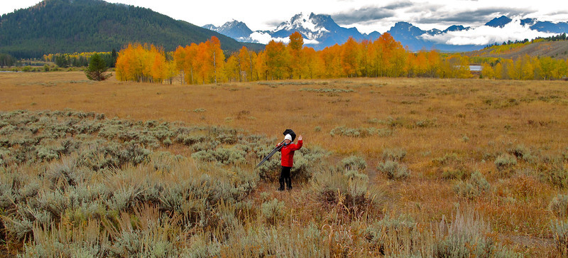 Fall colors are best photographed in a rain storm. Oxbow Bend, WY. Oct 2011