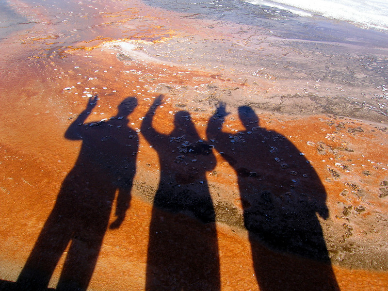 """Goodbye Shadows"". Grand Prismatic Geyser Basin, Yellowstone National Park. 2005"
