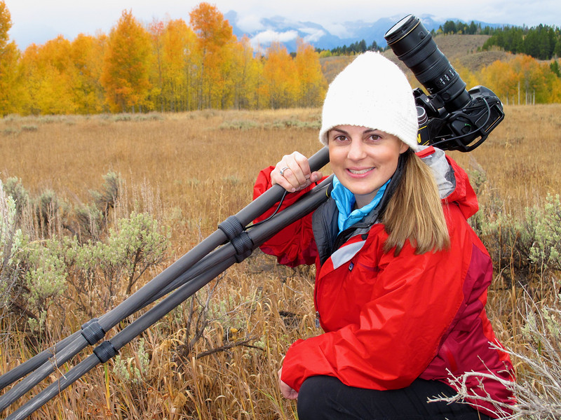 Photographing fall colors at Oxbow Bend, Grand Teton NP. 10/11