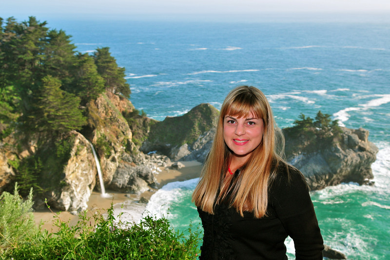 Julia Pfeiffer Burns State Park, McWay Falls.  Big Sur, CA.  4/9/10