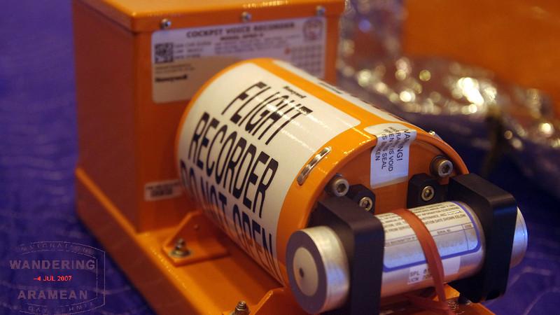 "The cockpit voice recorder, a/k/a ""black box"" device."
