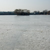 Frozen garbage in Houhai Lake