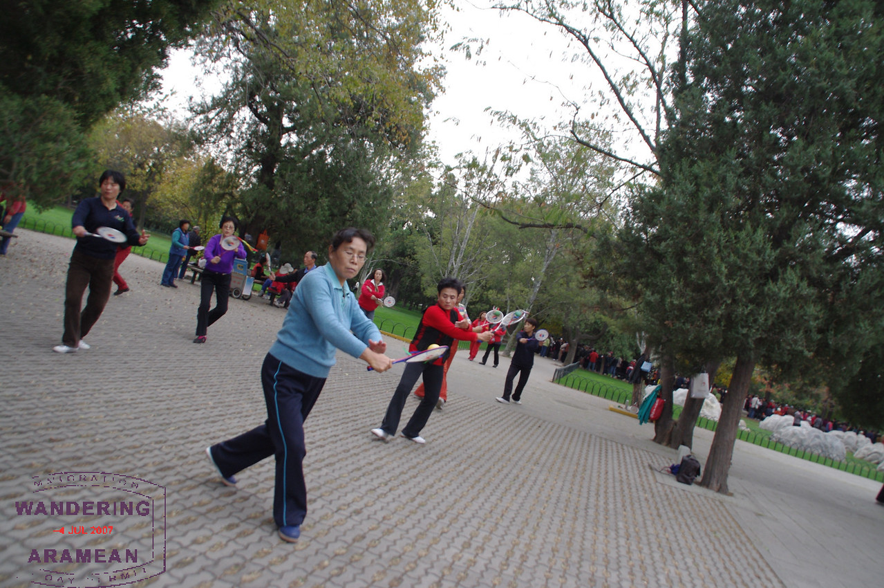 A cool dance troupe of some sort in the park