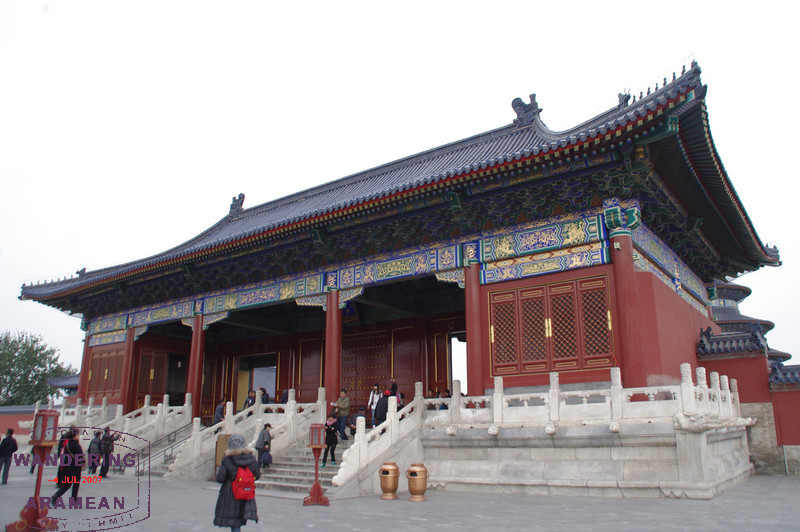 The gate guarding the Temple of Heaven