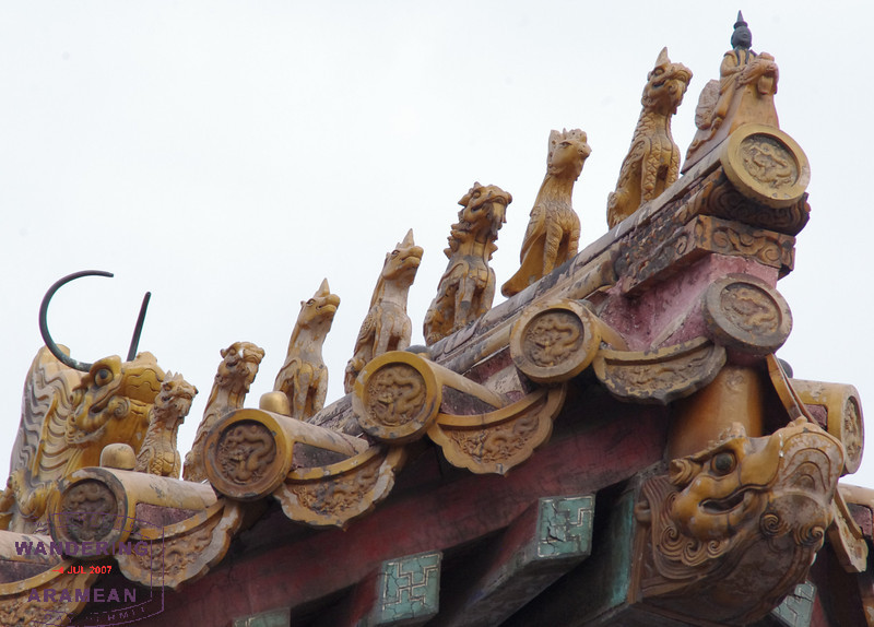 On top of one of the temples