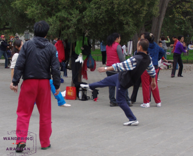 Locals playing in the park