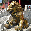Male lion in front of the Palace of Tranquil Longevity