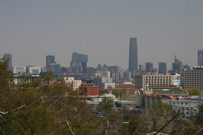 """Very clear air for Beijing!  A little left of center is the new CCTV building, which is usually described as a """"pair of pants"""" although it's not so obvious from this angle."""