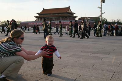 Sebastian checks out Tian'anmen square