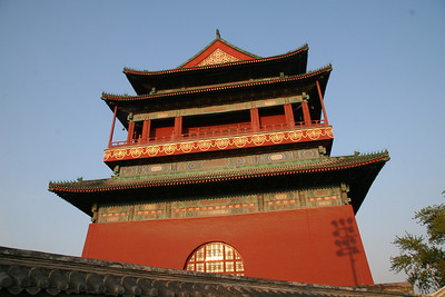 Beijing Drum Tower;  we later found out that having a drum tower was only allowed for the capital city.  China is old enough, however, that there have been 3 capitals.