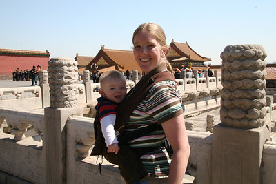 """Gretchen models the pikkolo in """"front-facing-in"""" mode. Oh, and we're still in China ;)"""