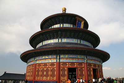 Temple of Heaven in the very large, very nice park a bit south of Forbidden City
