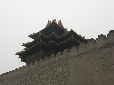 A 'sneak peek' inside the Forbidden City from outside the walls - the southeast corner tower.