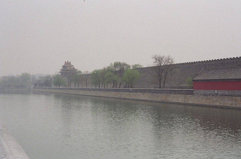 The Forbidden City moat and the northeast temple.