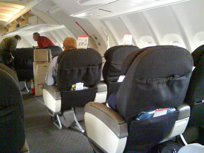 Business Class - Upper Deck on the 747.   Yeah... it's that good.