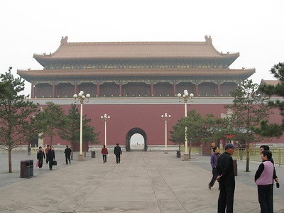 The back-side of the Tiananmen Gate.