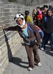 Tough wall to climb Great Wall