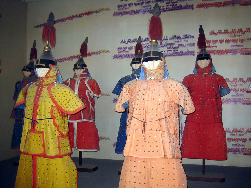 These are actual uniforms that were worn by the Emperor's army. Really.