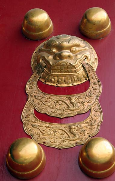 Close up of detail on door.