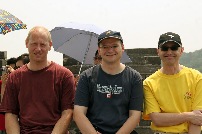 The Germans on our trip: Michael, Volker and Wolfgang.