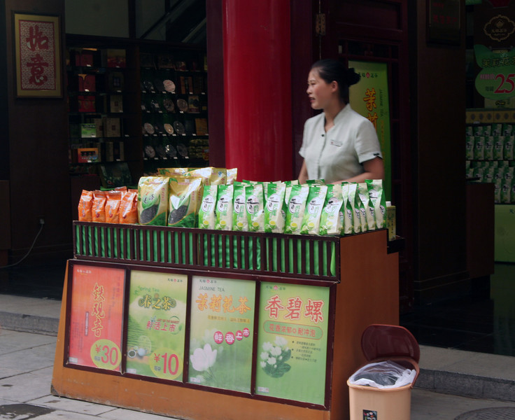 I think she was selling tea.