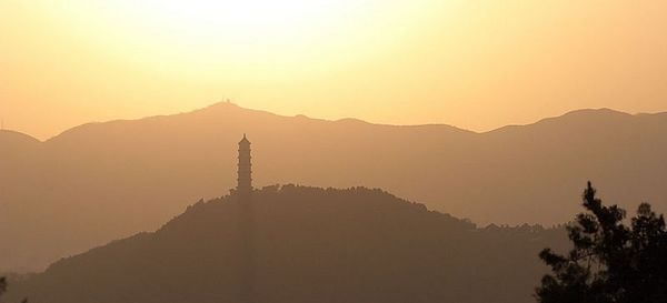 View of sunset from the Summer Palace.