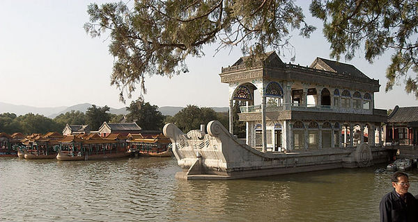The Marble Boat - meant to symbolize stability of the Qing dynasty.