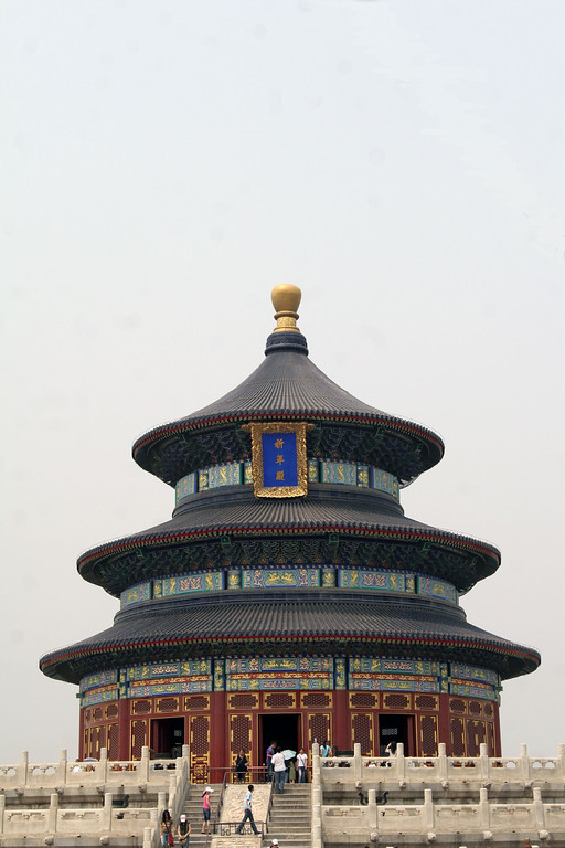 Hall of Prayer for Good Harvests - the circular roof symbolizes the sky and blue symbolizes the color of heaven.