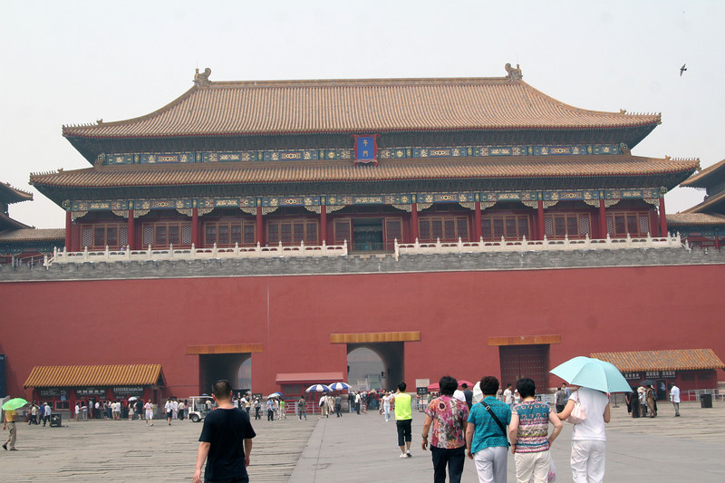 South entrance to the Forbidden city.