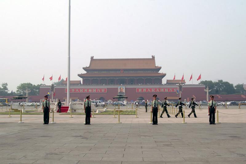 Flag ceremony at Tienanmen Square