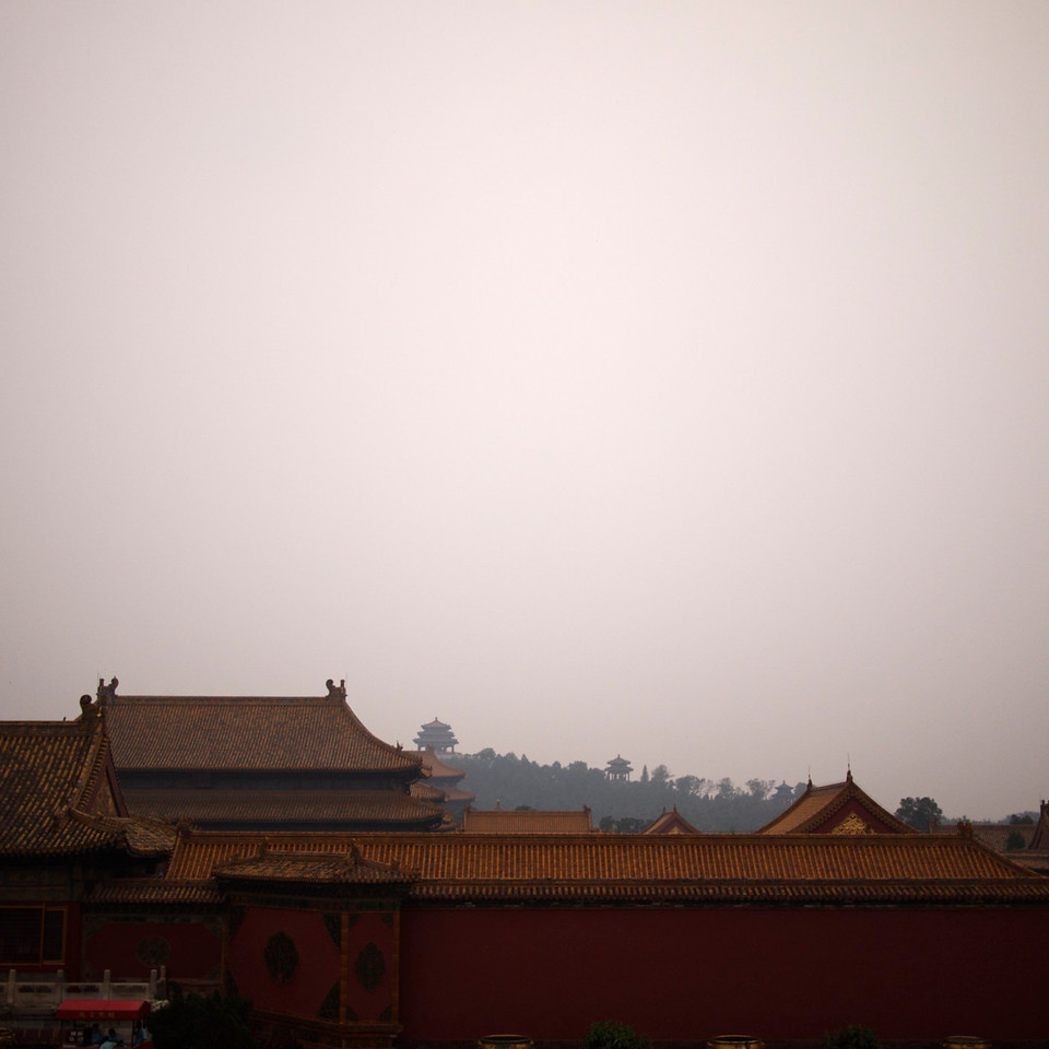 forbidden city looking good in the smog