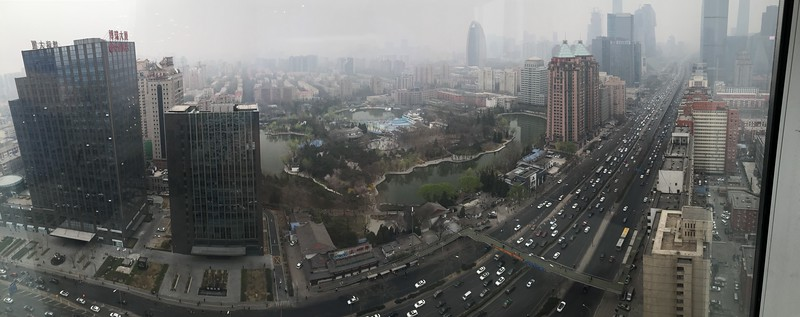 Panoramic View from my hotel in Beijing...smog