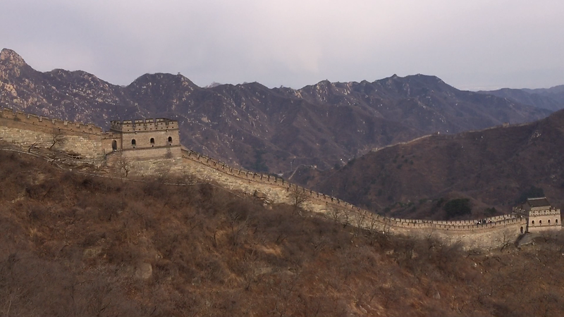 Cool view of the Mutianyu Great Wall, from here you can see how it snakes along the ridge tops in the distance.