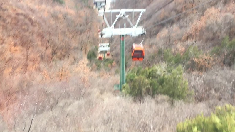 Cable car back down the mountain....it saved us a lot of walking