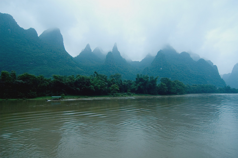 Guilin's scenic karst formation peaks--supposedly the Wookiee planet in one of those bad Star Wars sequels