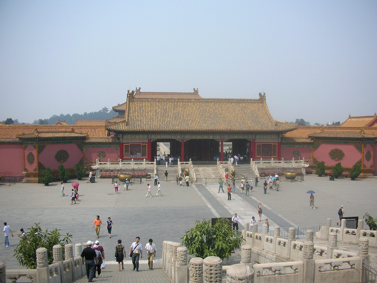Inside the walls of the Forbidden City.