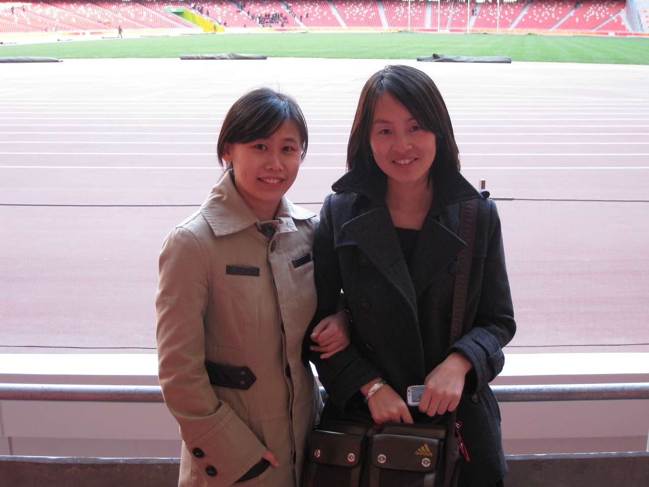Shuilian & Xin who showed us around Beijing & took us to the Birds Nest.