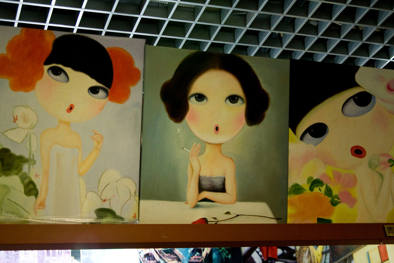 Love this artwork at the silk market.