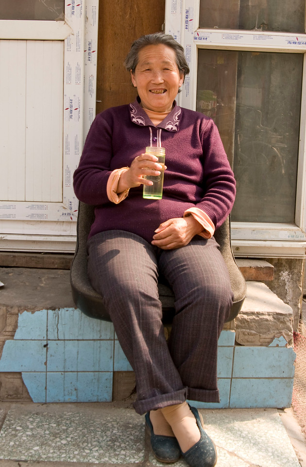 Very nice lady who let me take her picture.