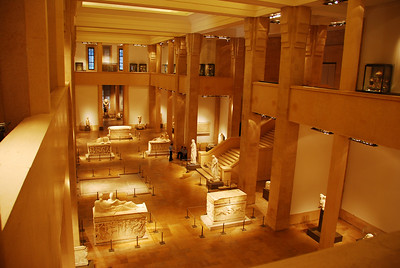 The interior of the National Museum in Beirut, this is a 'must see'.